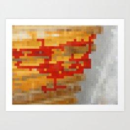 Pixels of Fire Art Print