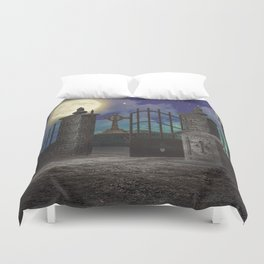 Graveyard #5 * cemetary scary spooky tombstone creepy Duvet Cover