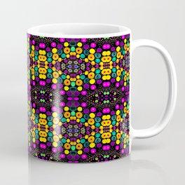 Yellow And Purple Mosaic Coffee Mug