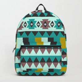 Aztec geometric pattern Backpack
