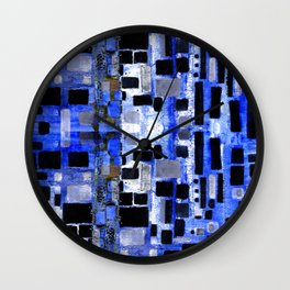 Urban Blocks Wall Clock