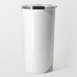 Color Circles Theme Yellow Grey Travel Mug