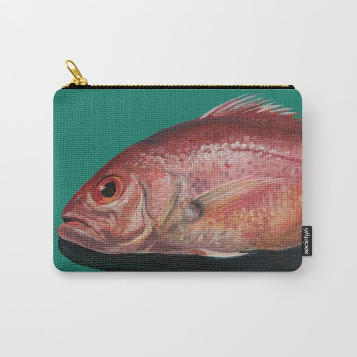 Fish - Red Snapper  Carry-All Pouch