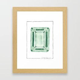 watercolor emerald Framed Art Print