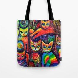Rainbow cats Tote Bag