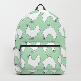 Chicken Lady Pattern Backpack