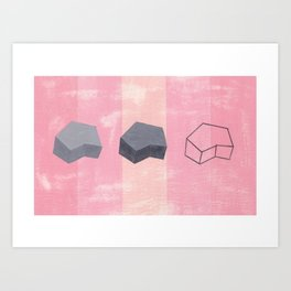 Studio #11-61 Pink/Pink/Grey Art Print