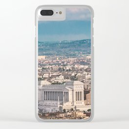 Rome Aerial View at Saint Peter Basilica Viewpoint Clear iPhone Case