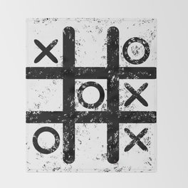 Tic Tac Toe Throw Blanket