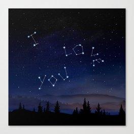 I love You Stars Design Canvas Print