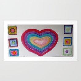 Rainbow's Love Art Print