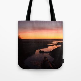 Reflecting on Life's Twists and Turns Tote Bag