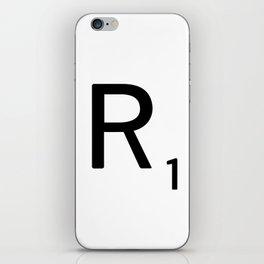 Letter R - Custom Scrabble Letter Tile Art - Scrabble R Initial iPhone Skin