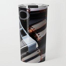 Vintage rangefinder camera and rolls color negative film Travel Mug