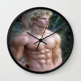 Blonde Nude ADONIS Wall Clock