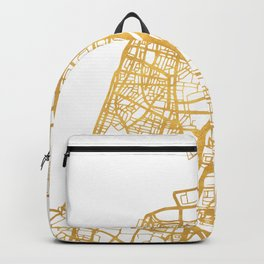TEL AVIV ISRAEL CITY STREET MAP ART Backpack