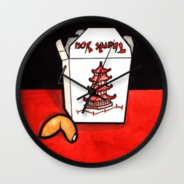 Take Out Fortune Wall Clock