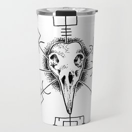 Raven and Vegvisir Travel Mug