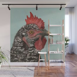 Plymouth Barred Rock Chicken Portrait Wall Mural