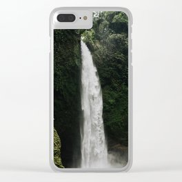 Bali Waterfall Clear iPhone Case