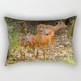 A Trio of Blacktail Deer in the Forest Rectangular Pillow