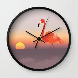 Floating diva in pink Wall Clock