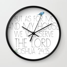 joshua 24:15 Wall Clock