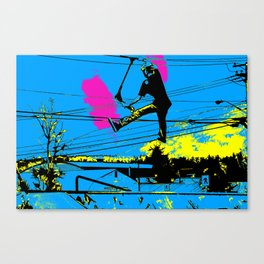 Tailgating - Stunt Scooter Tricks Canvas Print