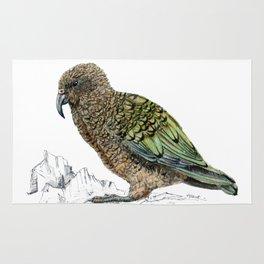 Mr Kea, New Zealand parrot Rug