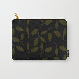 Midnight Leaves Pattern Carry-All Pouch
