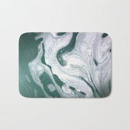 Marble- teal & silver Bath Mat
