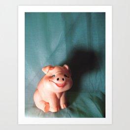 Refrigerator Pig Art Print