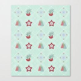 Christmas pattern.2 Canvas Print