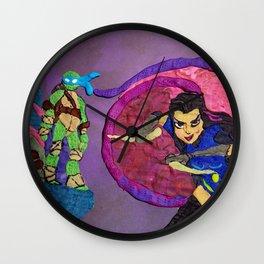 Leonardo and Shinigami Wall Clock