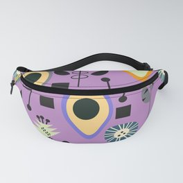 Mid-century flowers with avocados Fanny Pack