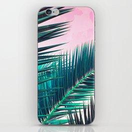 Nostalgic Palm Leaves on Pink #homedecor #buyart iPhone Skin
