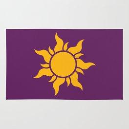 Tangled Rapunzel Sun Logo - Corona Symbol Rug