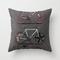 brompton Throw Pillows featuring This Is How I Roll by Wyatt Design