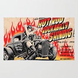 Hot Rod Rockabilly Shindig Rug