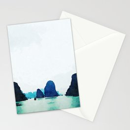 Twilight in Halong Bay Stationery Cards