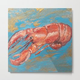 Magical lobster Metal Print