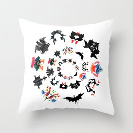 Rorschach test subjects' perceptions of inkblots psychology   thinking Exner score Throw Pillow