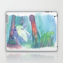 Little monster watercolor Laptop & iPad Skin