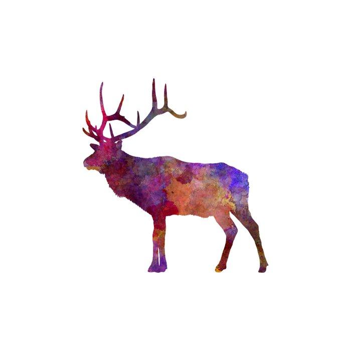Elk 01 in watercolor Duvet Cover