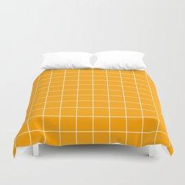 Marigold Grid Duvet Cover