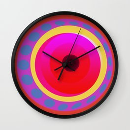 Abstract in Red Wall Clock