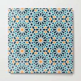 Tile of the Alhambra Metal Print