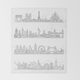 Skylines Throw Blanket