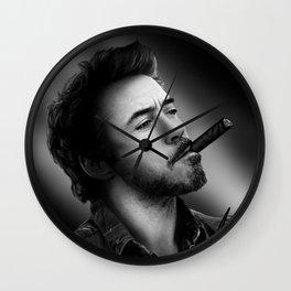 David's Portrait #2 Robert Downey Junior Wall Clock