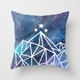 Watercolor galaxy Night Court - ACOTAR inspired Throw Pillow